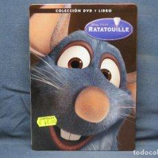 Cine: RATATOUILLE - DVD Y LIBRO CAJA METALICA. Lote 210194170