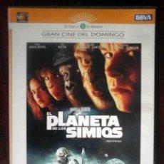 Cine: TODODVD: EL PLANETA DE LOS SIMIOS (TIM BURTON / MARK WAHLBERG, HELENA BONHAM CARTER, TIM ROTH). Lote 210352931
