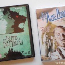 Cine: DVDS LA ISLA DE LAS ALMAS PERDIDAS Y THE ISLAND OF DR. MOREAU. BASADO EN LA NOVELA DE H.G. WELLS. Lote 210548286
