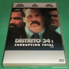 Cine: DVD DISTRITO 34: CORRUPCIÓN TOTAL / NICK NOLTE / ARMAND ASSANTE (UNA SOLO PASE)PERFECTO ESTADO!!. Lote 211260165