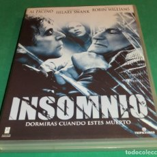 Cine: DVD INSOMNIO / AL PACINO / ROBIN WILLIAMS / HILARY SWANK (UNA SOLO PASE)PERFECTO ESTADO!!. Lote 211447719