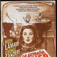 Cine: LA EXTRAÑA MUJER DVD (HEDY LAMARR) TRAS UNA CARA PRECIOSA SE ESCONDÍA UNA MANIPULADORA. Lote 211448122