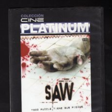 Cine: SAW (COLECCIÓN CINE PLATINUM) - DIR: JAMES WAN - INT: CARY ELWES / DANNY GLOVER / MONICA POTTER / ... Lote 211591526