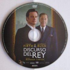 Cine: EL DISCURSO DEL REY - TOM HOOPER - VENTA SÓLO DEL DVD PROCEDENTE DEL COMBO DE LA IMAGEN. Lote 211667055