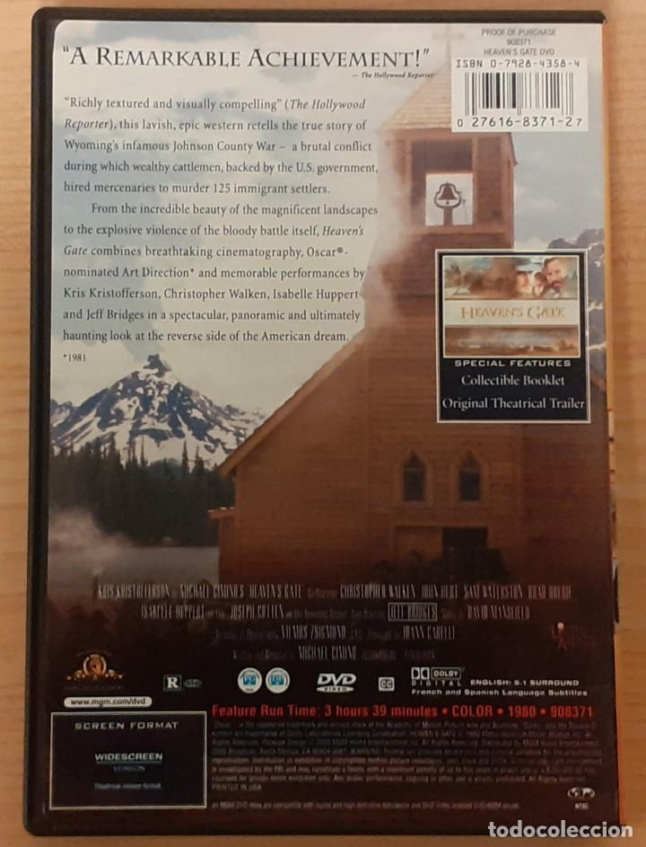 Cine: LA PUERTA DEL CIELO (HEAVENS GATE) MICHAEL CIMINO, KRIS KRISTOFFERSON ED USA Subt. CAST. - Foto 2 - 211768366