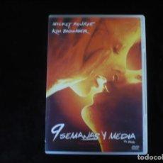 Cine: 9 SEMANAS Y MEDIA - CON KIM BASINGER Y MICKEY ROURKE - DVD CASI COMO NUEVO. Lote 211835466
