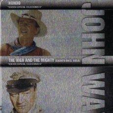 Cine: HONDO + THE HIGH AND THE MIGHTY + INFIERNO BLANCO JOHN WAYNE ( ESTUCHE METÁLICO). Lote 211934126