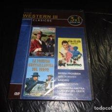 Cine: SIERRA PROHIBIDA--BANDIDO-- LA PRIMERA AMETRALLADORA... PRECINTADA--SLIM--DVD. Lote 212624302
