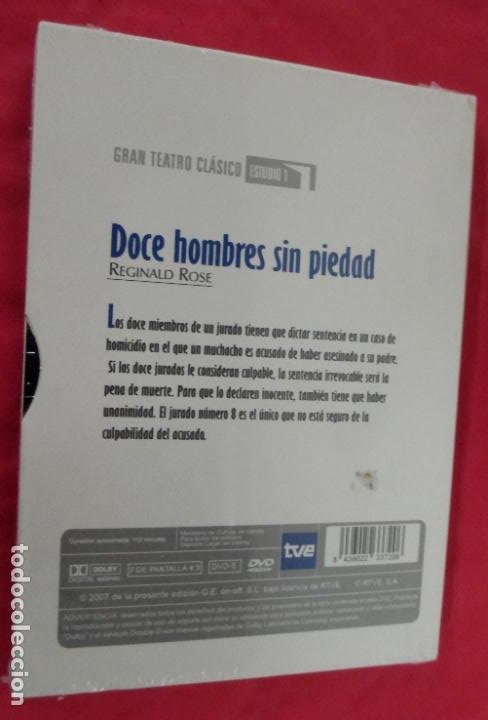 Cine: DOCE HOMBRES SIN PIEDAD - REGINAL ROSE - GRAN TEATRO CLASICO TVE DVD 2007 JESUS PUENTE - PRECINTADO - Foto 2 - 221672046