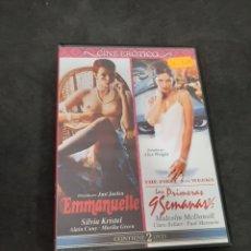 Cinéma: S 250 EMMANUEL LAS PRIMERAS NUEVE SEMANAS Y MEDIA-DVD SEGUNDA MANO. Lote 213530512