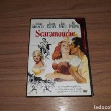 Cine: SCARAMOUCHE DVD STEWART GRANGER ELEANOR PARKER JANET LEIGH COMO NUEVA. Lote 213686501