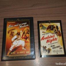Cine: LAS MIL Y UNA NOCHES DVD + LIBRO 16 PAG. WALTER WANGER'S JON HALL COMO NUEVA. Lote 213686631