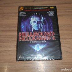 Cine: HELLBOUND HELLRAISER II EDICION ESPECIAL 2 DVD TERROR NUEVA PRECINTADA. Lote 213727411