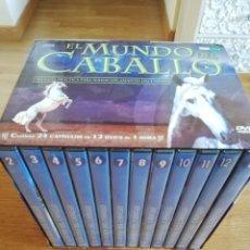 Cine: EL MUNDO DEL CABALLO. UNA GUÍA PRÁCTICA PARA TODOS LOS AMANTES DEL CABALLO (12 DVD'S PRECINTADOS). Lote 213791961