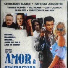 Cine: TODODVD: AMOR A QUEMARROPA CHRISTIAN SLATER, PATRICIA ARQUETTE, DENNIS HOPPER, VAL KILMER, BRAD PITT. Lote 213898585
