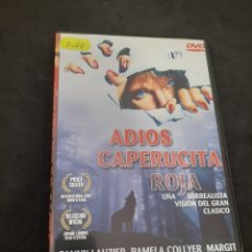 Cine: DVR 1194 ADIÓS CAPERUCITA ROJA -DVD SEGUNDA MANO CON SLIMCOVER RECORTADO. Lote 213951768
