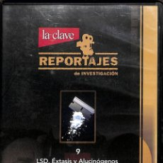Cine: DVD REPORTAJES DE INVESTIGACIÓN LSD, EXTÁSIS Y ALUCINÓGENOS Nº9. Lote 214014962
