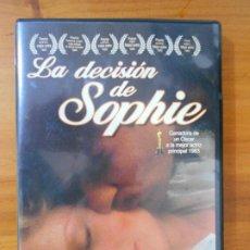 Cine: DVD LA DECISION DE SOPHIE - MERYL STREEP (V7). Lote 214380828