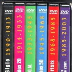Cine: CRONICA UNIVERSAL DE NUESTRA EPOCA 6 DVD DOCUMENTAL DEL 1890 AL 2003 GRAN GUERRA 11 SEPTIEMBRE ORDEN. Lote 214453162