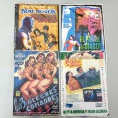 Cine: LOTE 4 DVD CINE MEXICANO LUCHADORES TERROR Y COMEDIA (BLUE DEMON, EL FISTOL DEL DIABLO...). Lote 214584751