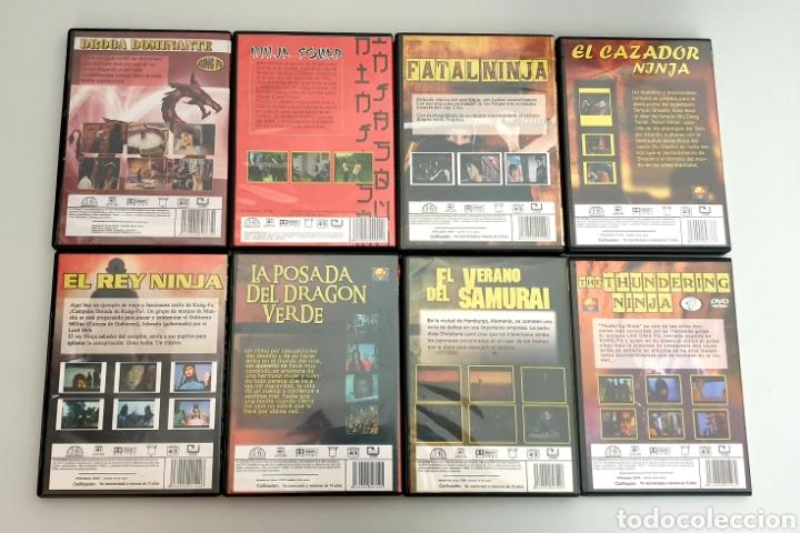 Cine: LOTE 8 DVDs PELICULAS DE KUNG FU NINJAS ARTES MARCIALES - Foto 2 - 214646633