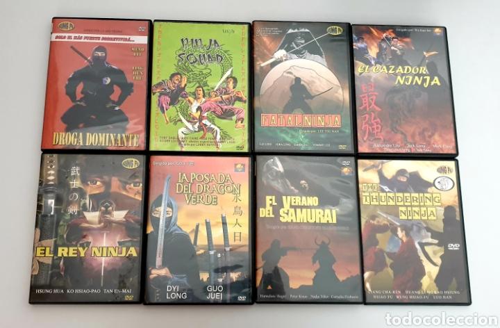 LOTE 8 DVDS PELICULAS DE KUNG FU NINJAS ARTES MARCIALES (Cine - Películas - DVD)