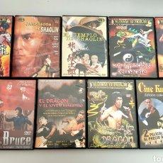 Cine: LOTE 9 DVDS PELICULAS DE KUNG FU NINJAS ARTES MARCIALES. Lote 214646820
