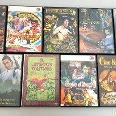 Cine: LOTE 9 DVDS DE PELÍCULA DE KUNG FU NINJAS ARTES MARCIALES. Lote 214646895
