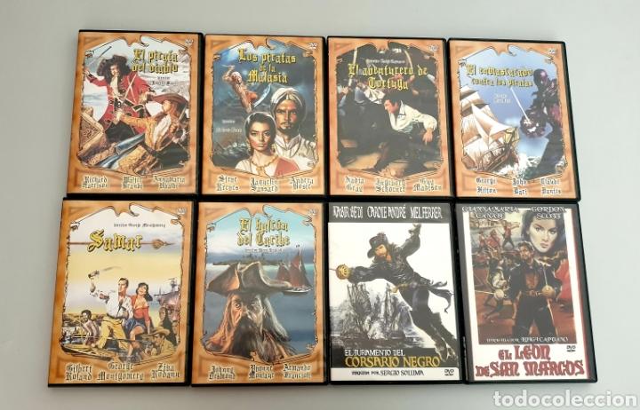 LOTE 8 PELICULAS COLECCION CINE DE PIRATAS Y CORSARIOS (Cine - Películas - DVD)