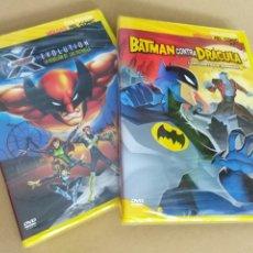 Cine: LOTE 2 DVD ´S ANIMACIÓN COLECCIÓN HÉROES DEL CÓMIC X-MEN EVOLUTION BATMAN COMIC DC MARVEL. Lote 215304367