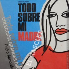 Cine: TODO SOBRE MI MADRE - PEDRO ALMODOVAR - DVD CINE. Lote 215661602