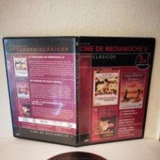 Cine: DVD 3 PELICULAS - LA VENGANZA SYLVIA KRISTEL - DAVID HAMILTON - MAX PECAS. Lote 279483218