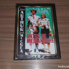Cinema: ANTES DE MEDIANOCHE DVD JEAN ARTHUR JOEL MCCREA NUEVA PRECINTADA. Lote 227969085