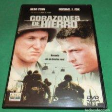 Cine: DVD CORAZONES DE HIERRO / SEAN PENN / MICHAEL J. FOX (UN SOLO PASE) PERFECTO ESTADO!. Lote 216530212