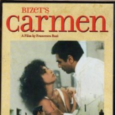 Cine: CARMEN DVD ( PLACIDO DOMINGO + F. ROSSI ) RODADO EN LOS MISMOS PARAJES QUE DESCRIBE LA OPERA .(LEER). Lote 216553631