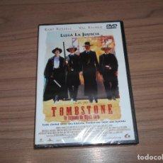 Cine: TOMBSTONE LA LEYENDA DE WYATT EARP DVD KURT RUSSELL VAL KILMER NUEVA PRECINTADA. Lote 278626568