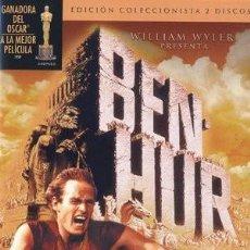 Cine: BEN -HUR, EDICION COLECCIONISTA 2 DVD . CHARLTON HESTON (NUEVO Y PRECINTADO). Lote 268597004