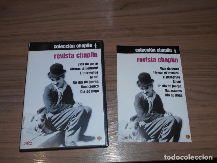 REVISTA CHAPLIN EDICION ESPECIAL 2 DVD WARNER CHARLES CHAPLIN COMO NUEVA (Cine - Películas - DVD)