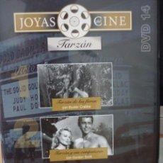 Cine: CINE DVD A 2 EUROS: JOYAS DEL CINE Nº 14 - TARZAN - 3 PELICULAS *IMPECABLE*. Lote 217595495