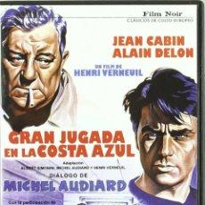 Cinema: GRAN JUGADA EN LA COSTA AZUL (JEAN CABIN, ALAIN DELON) - DVD NUEVO Y PRECINTADO. Lote 217816625