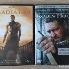 Cine: ENVIO INCLUIDO // LOTE DVD: GLADIATOR Y ROBIN HOOD. Lote 202699202