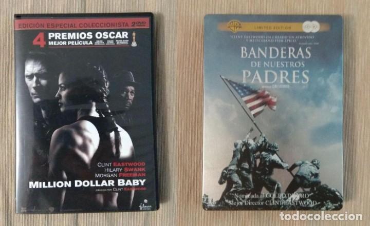 ENVIO INCLUIDO // LOTE DVD CLINT EASTWOOD: MILLION DOLLAR BABY, BANDERAS DE NUESTROS PADRES (Cine - Películas - DVD)
