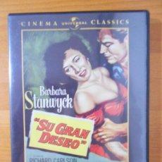 Cine: DVD SU GRAN DESEO - BARBARA STANWYCK (HP1). Lote 218320860
