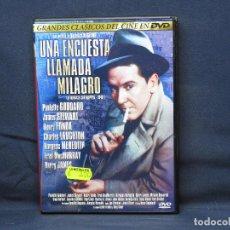 Cine: UNA ENCUESTA LLAMADA MILAGRO - DVD. Lote 218491480