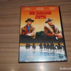 Cine: DOS CABALGAN JUNTOS DVD RICHARD WIDMARK JAMES STEWART NUEVA PRECINTADA. Lote 218636293