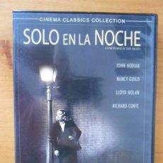 Cine: DVD SOLO EN LA NOCHE - JOHN HODIAK, NANCY GUILD, LLOYD NOLAN (S4). Lote 218792990