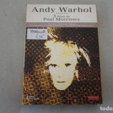Cine: 5 X DVD - 5 FILMS DE PAUL MORRISSEY / ANDY WARHOL. Lote 218830552