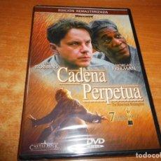 Cine: CADENA PERPETUA DVD PRECINTADO DEL AÑO 2002 ESPAÑA REMASTERIZADA TIM ROBBINS MORGAN FREEMAN. Lote 218831687