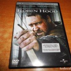Cine: ROBIN HOOD + VERSION DEL DIRECTOR 16 MINUTOS EXTRAS DVD 2010 ESPAÑA RUSSELL CROWE RIDLEY SCOTT RARO. Lote 218833511