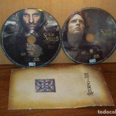 Cine: EL SEÑOR DE LOS ANILLOS - EL RETORNO DEL REY - DOBLE DVD SIN CARATULAS,NI CAJA CON LI. Lote 219275956